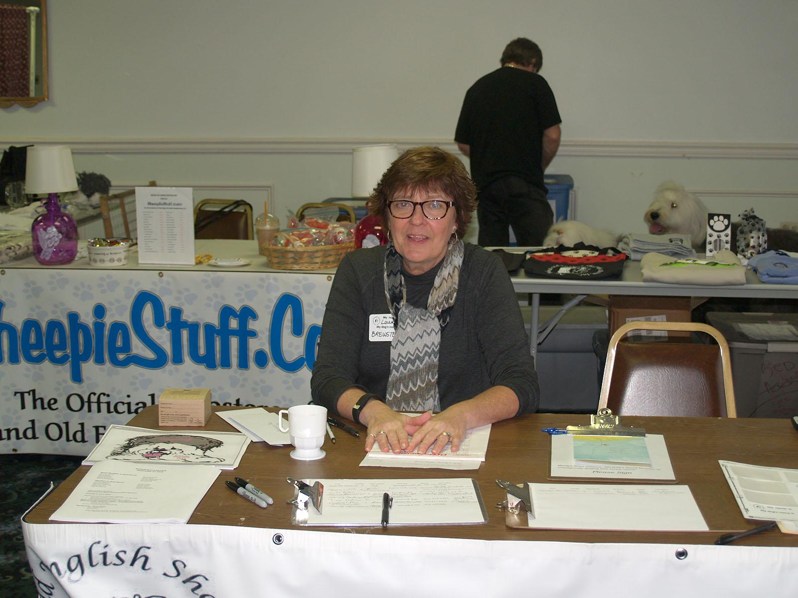 Lauren McIntyre at the Welcome Desk