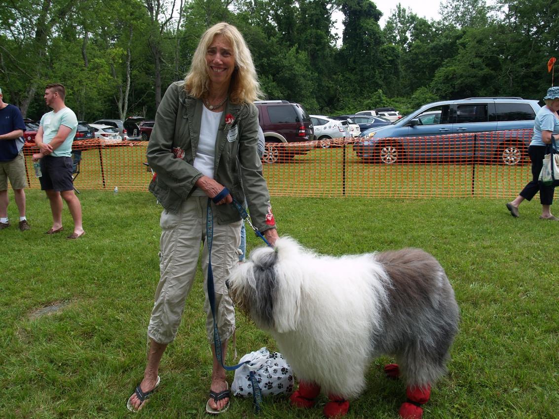 Jini Goscinak with OES Monty