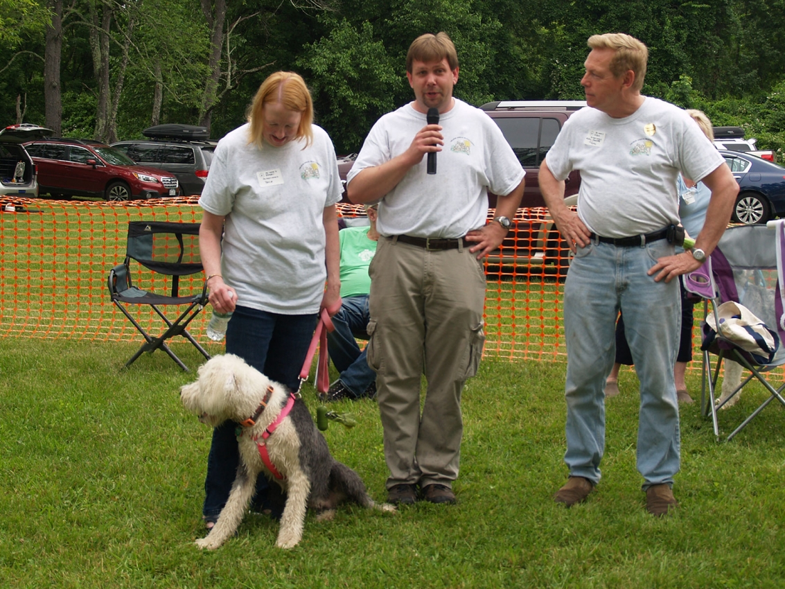 Rescue Parade: Karen Kowalczyk and Jeff Cates with OES Bluebelle