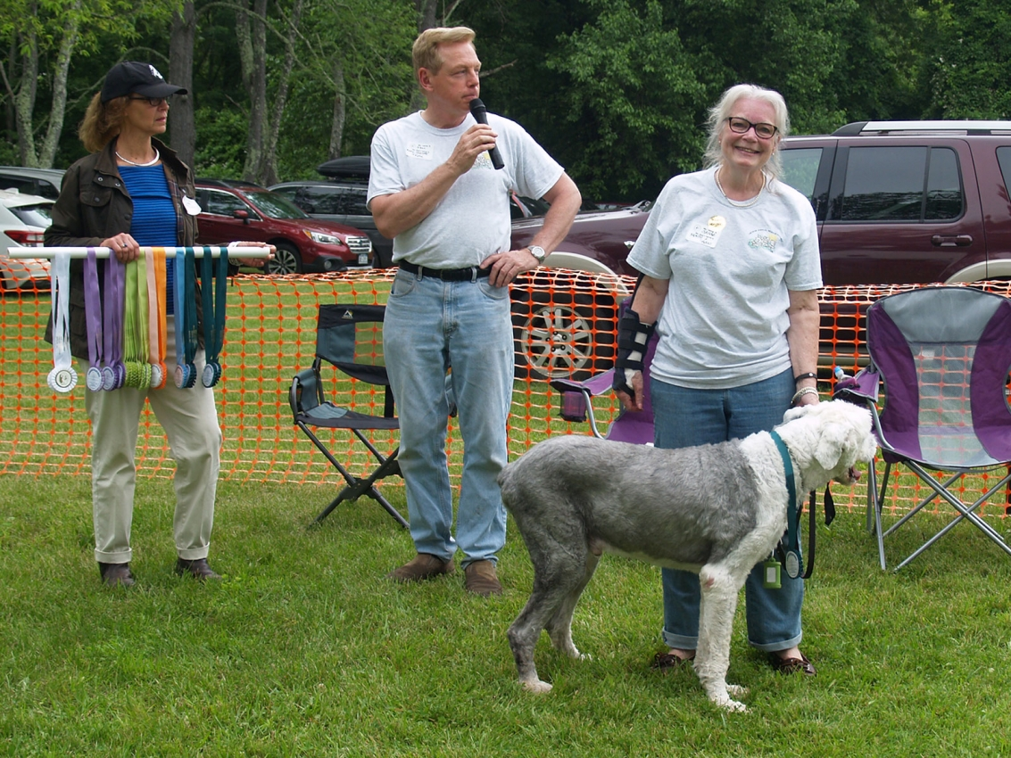 Rescue Parade: Sandy Stevenson with OES Sampson
