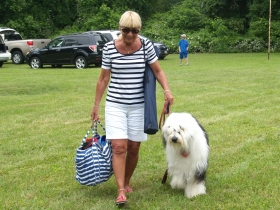 Lorraine Schow with OES Bubba