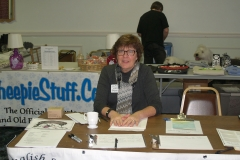 Lauren McIntyre at the Welcome Desk