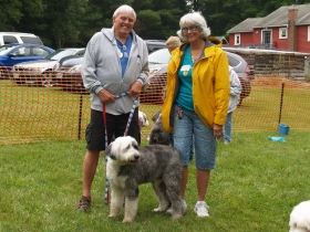 Rescue Parade: Stephanie and Tom Zimmerer with Becky