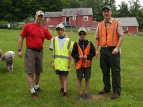 Some of troop 180 that assisted with the picnic