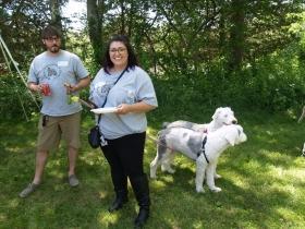 Leo Dormann, Megan Foley with OES Angus and Riley