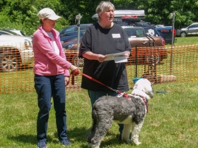 Rescue Parade: Susan Burke with OES Little, MaryJo Marcely